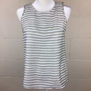 j crew cross backed tank top striped 00